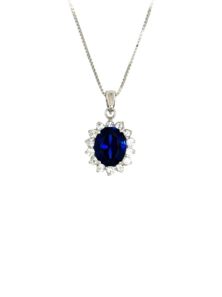 Ohrringe Sissi silber saphir blau