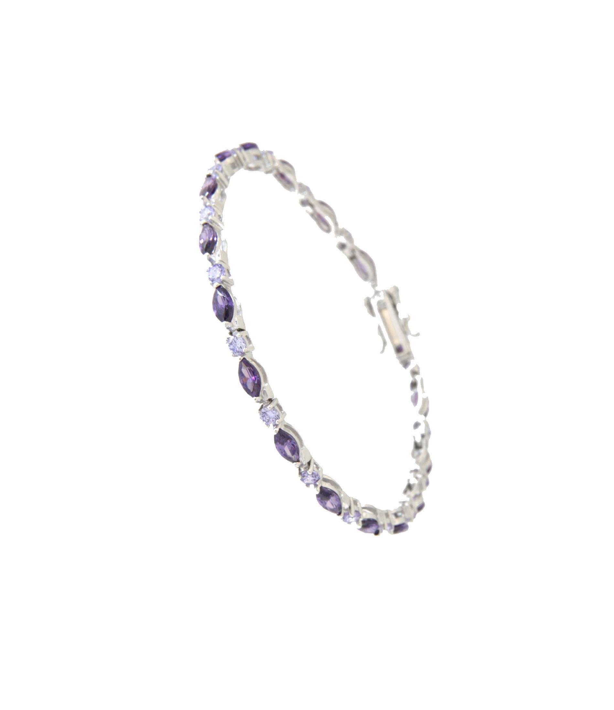 Armband Emma silber lila lavendar