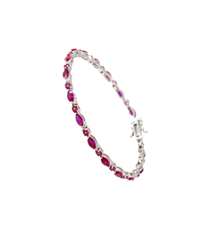 Armband Emma Silber rubin rot rosa
