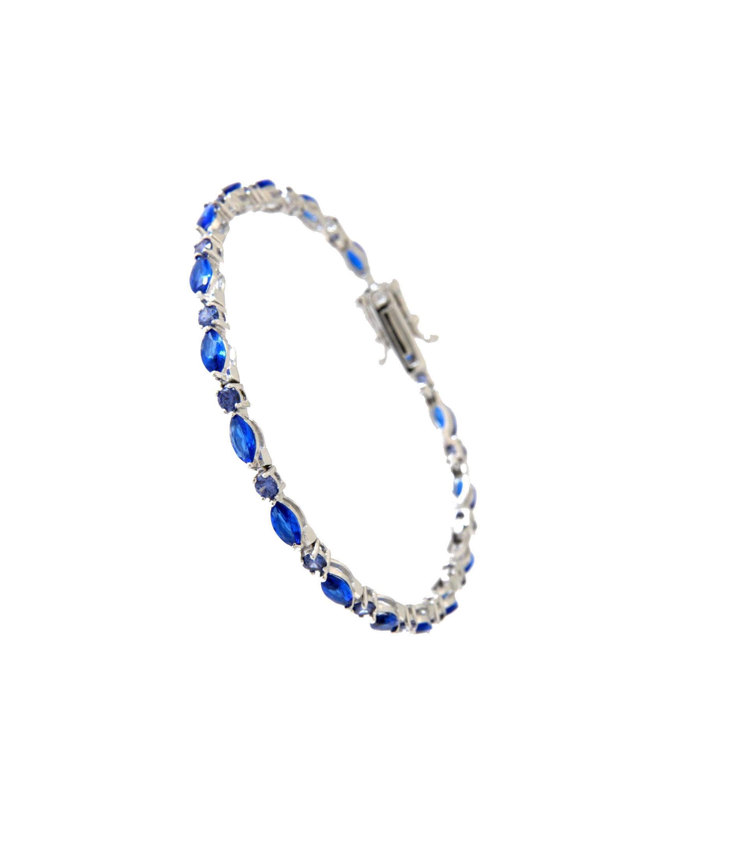 Armband Emma silber saphir blau tansanit