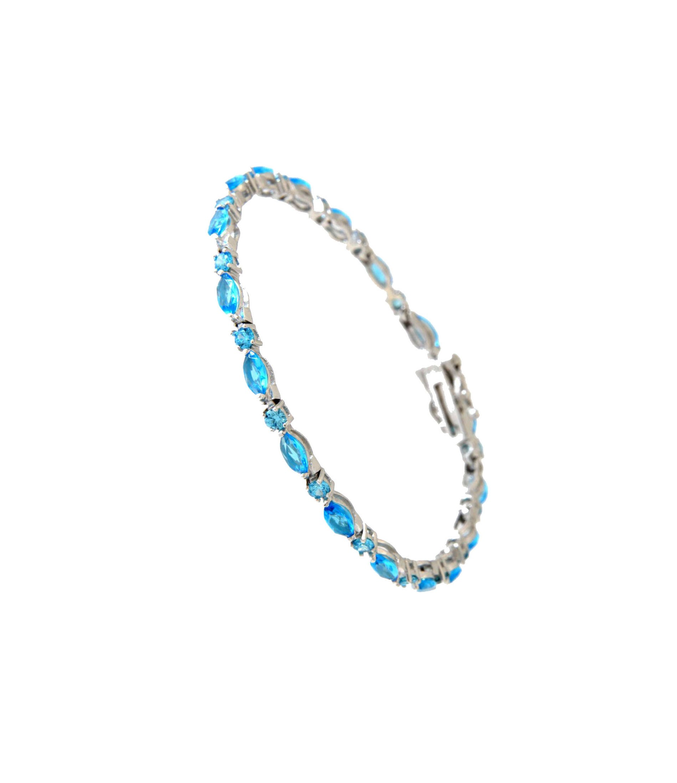 Armband Emma silber aqua blauv