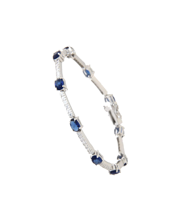 Armband Jane silber saphir blau weiß