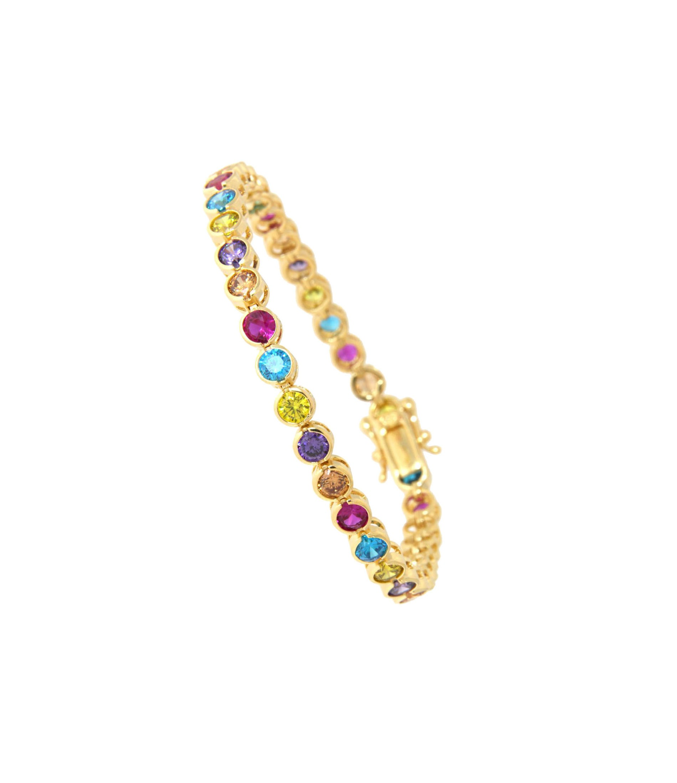 Armband Madeleine gelbgold bunt