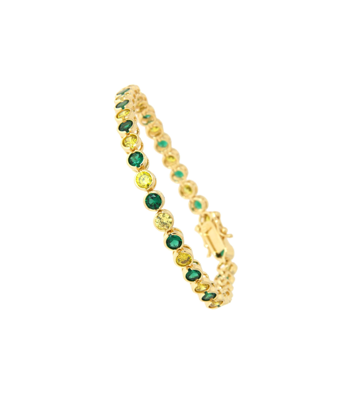 Armband Madeleine gelbgold smaragd grün frisches grün