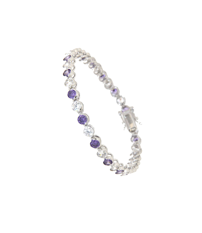 Armband Madeleine silber lila weiß