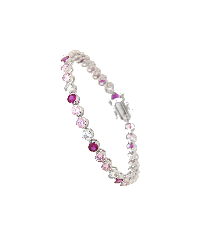 Madeleine Sterling Silber Armband pink weiß rosa