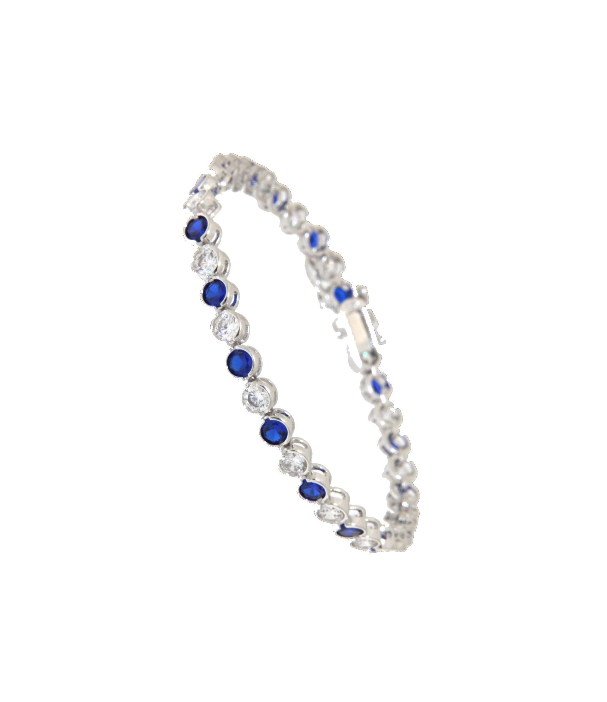 Armband Madeleine silber saphir blau