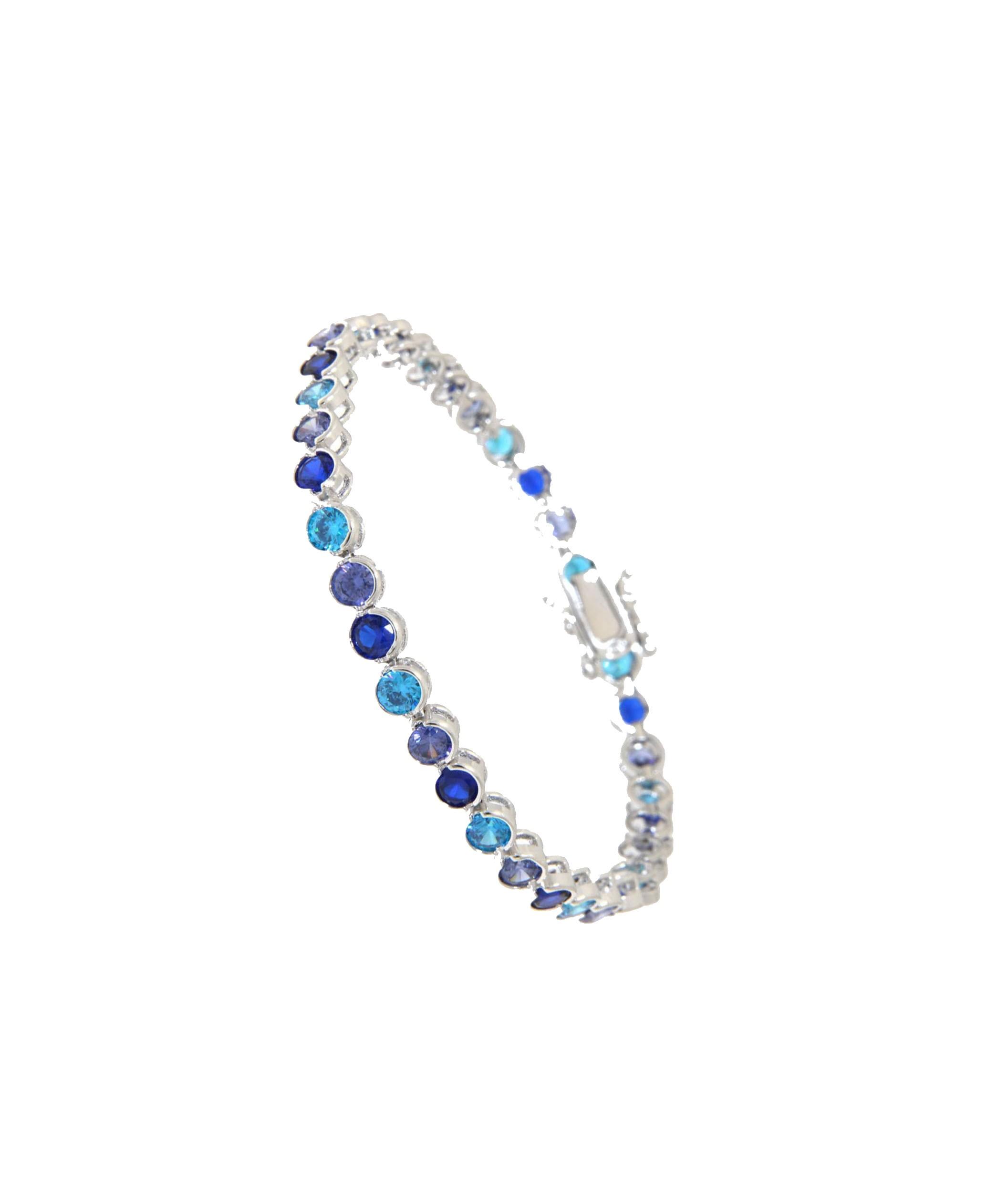 Armband Madeleine silber vier blau Töne