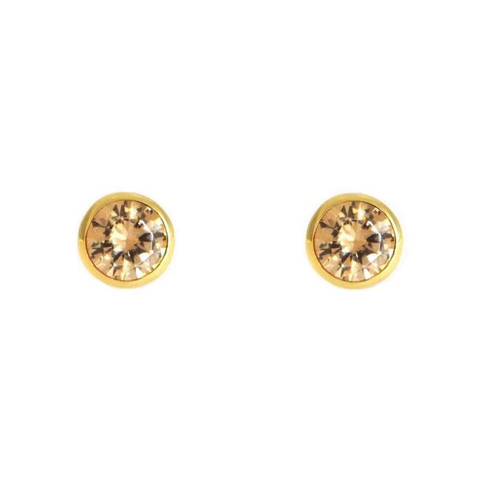 Ohrringe Anna klein gelbgold champagner frontal