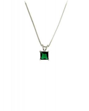 Anhänger mit Kette Maria silber smaragd grün