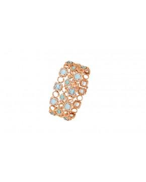 Armband Alessia rosegold blautöne