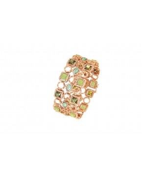 Armband Alessia rosegold grüntöne