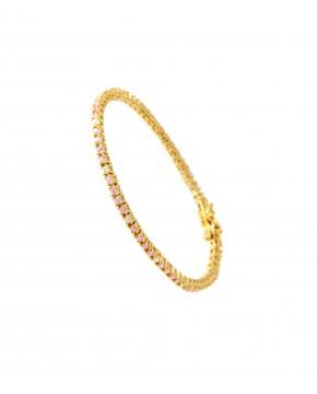 Elisabeth goldenes Armband rosa