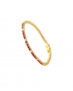 Armband Elisabeth gelbgold rubin rot weiß