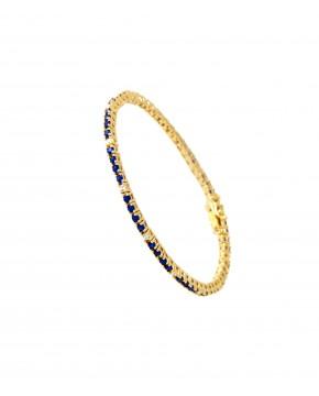 Armband Elisabeth gelbgold saphir blau weiß