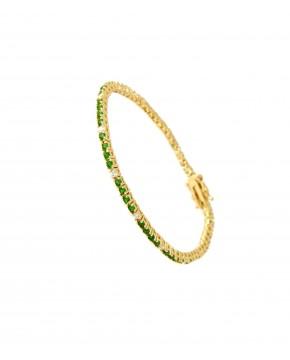 Armband Elisabeth gelbgold smaragd grün weiß