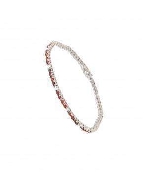 Armband Elisabeth silber granat rot weiß