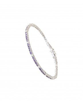 Armband Elisabeth silber lila weiß