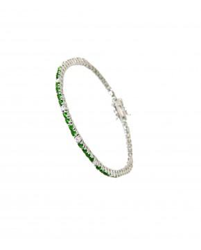 Armband Elisabeth silber smaragd grün weiß