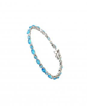 Sterling Silber Armband Emma blau