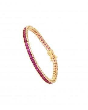 Armband Fanny gold rubinrot