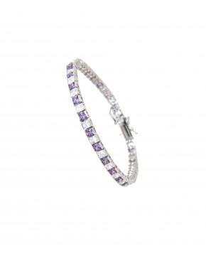 Armband Fanny silber lila weiß