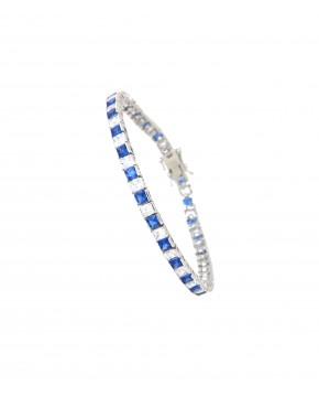 Armband Fanny silber saphir blau weiß