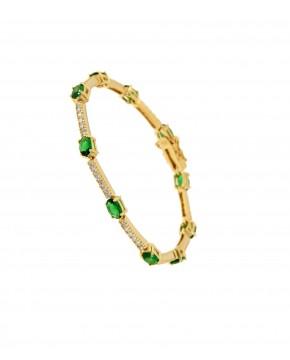 Armband Jane gelbgold smaragd grün weiß