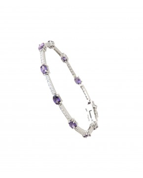 Armband Jane silber lila weiß
