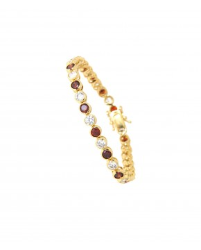 goldenes Armband rot Madeleine