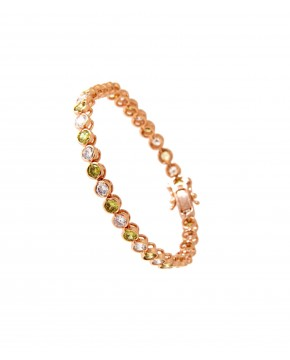 Armband Madeleine rosegold feenhaftes grün weiß