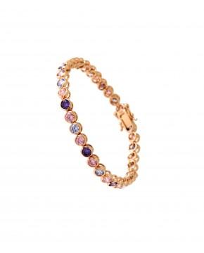 Armband Madeleine rosegold lila lavendar rosa