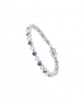 Armband Madeleine silber lila