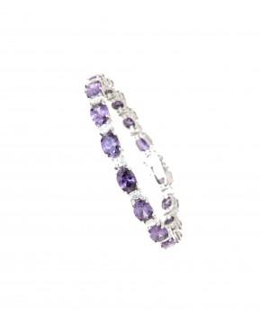Armband Sissi silber lila weiß