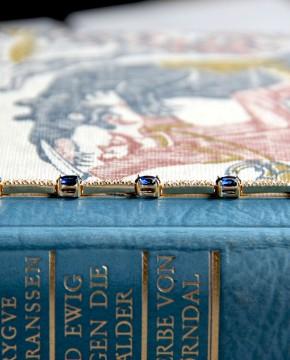Sterling Silber Armband Jane Gelbgold vergoldet saphir blau