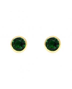 Ohrringe Anna groß gelbgold smaragd grün frontal