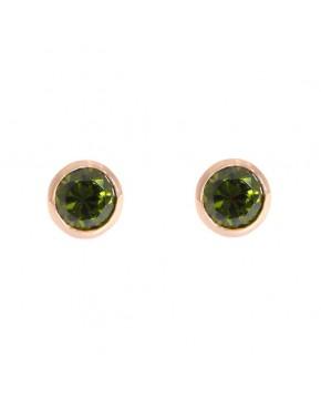 Ohrringe Anna groß rosegold feenhaftes grün frontal