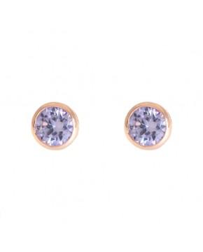 Ohrringe Anna groß rosegold lavendar frontal