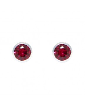 Ohrringe Anna groß silber rubin rot frontal