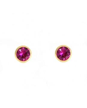 Ohrringe Anna klein rosegold romantisches rosa frontal