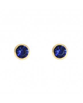 Ohrringe Anna klein gelbgold saphir blau frontal
