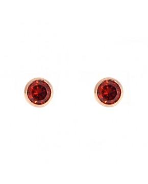 Ohrringe Anna klein rosegold granat rot frontal