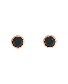Ohrringe Anna klein rosegold schwarz frontal