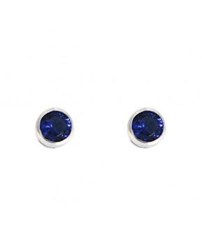Ohrringe Anna klein silber saphir blau frontal