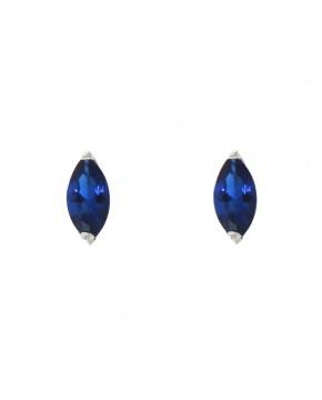 Ohrringe Emma silber saphir blau frontal