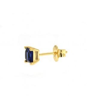 Ohrstecker Maria klein gelbgold saphir blau seitlich