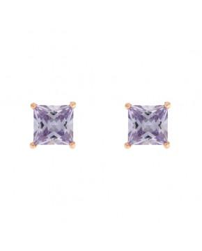 Ohrringe Maria groß rosegold lavendar frontal