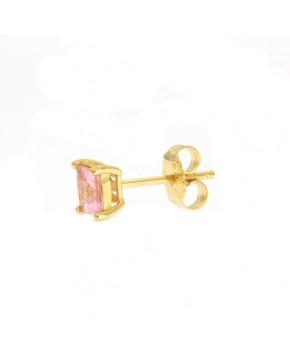 Ohrringe Maria klein gelbgold rosa seitlich