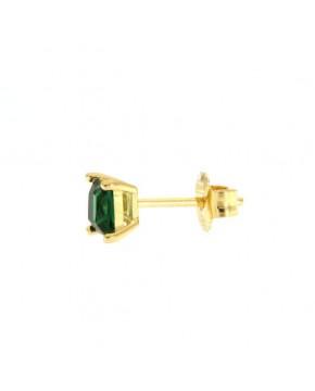 Ohrringe Maria klein gelbgold smaragd grün seitlich