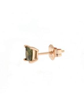 Ohrringe Maria klein rosegold feenhaftes grün seitlich
